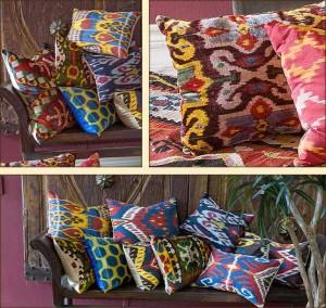 узорные подушки
