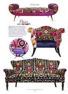 кресло кушетка диван винтаж обивка узор