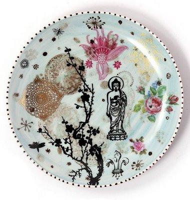 тарелка с индийской росписью