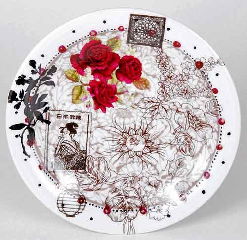 роспись тарелка