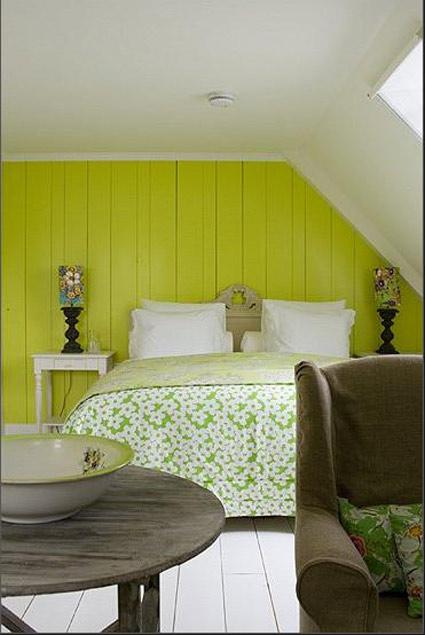 лимонные стены спальня