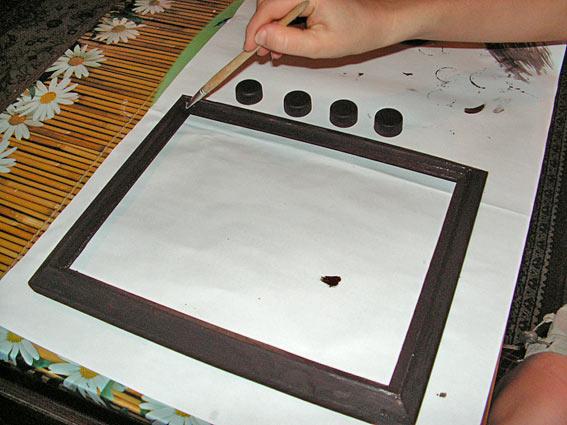 Покрасить рамки для фото своими руками