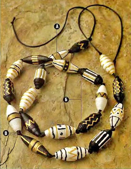 recycling paper: african beads made ​​of paper …!