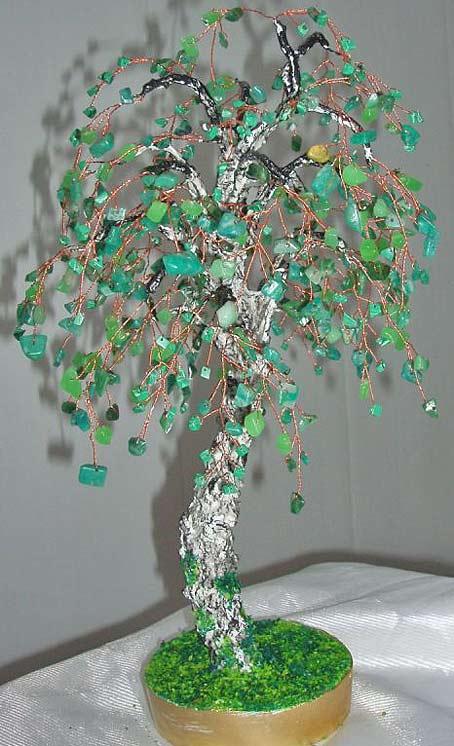 дерево из камней и бисера бонсай мастер-класс. дерево из камней и бисера бонсай.