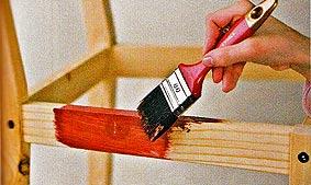 покраска стула хенд-мейд