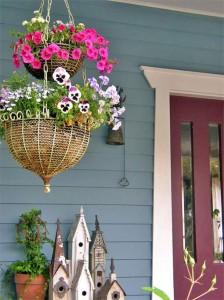 цветы кашпо декорирование дачи