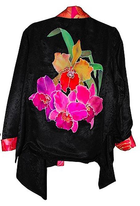 батик роспись по шелку накидка пиджак