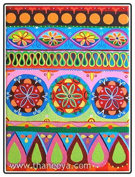 """Предпросмотр - Схема вышивки  """"Индийские мотивы """" - Схемы автора  """"yatra """" - Вышивка крестом."""