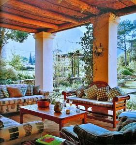 терраса интерьер декорирование подушки диваны