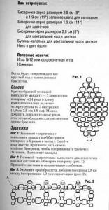 схема и описания браслет из бисера