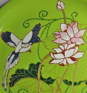 декоративная тарелка с росписью
