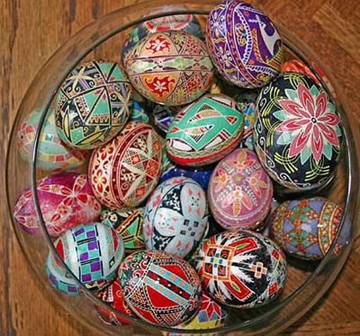 крашеные яйца ропись