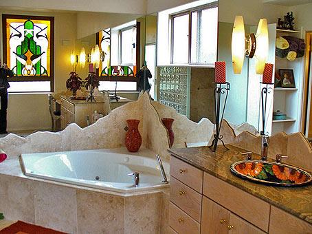 угловая ванна интерьер ванной