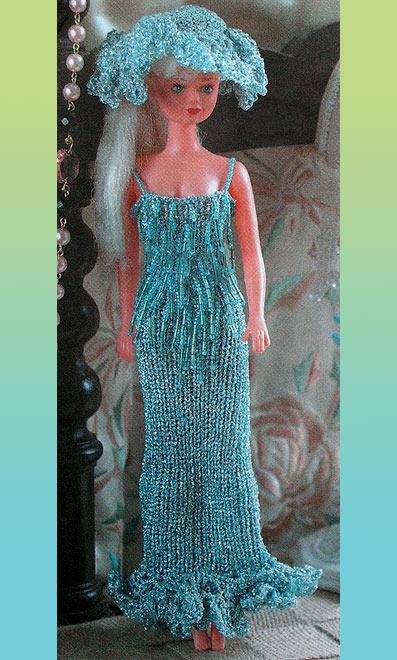 Платья вязанные бисером