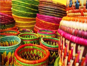 индийская плетеная посуда