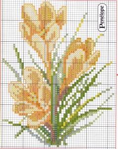 цветы схема для вышивания