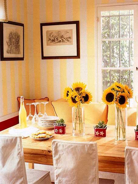 декорирование желтым