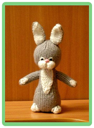 игрушка связанная крючком заяц