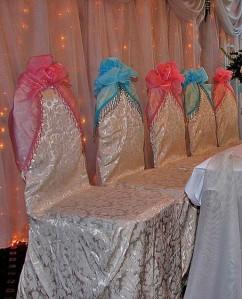 декорирование стульев к свадьбе
