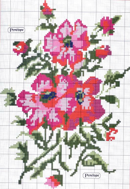 ко. вышивка -Икона и цветы.  Из инета.
