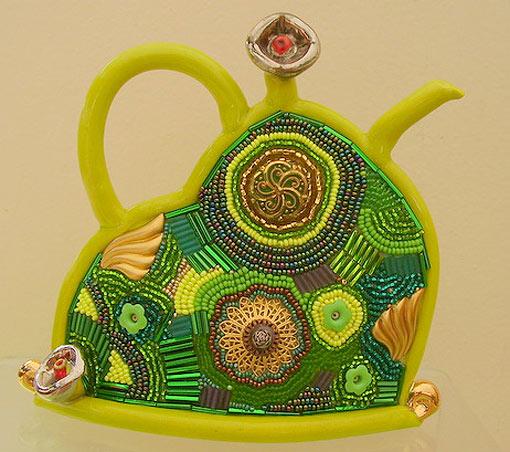 Керамика с бисером.