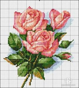 букет роз схема для вышивания