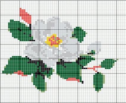 цветок яблони схема для