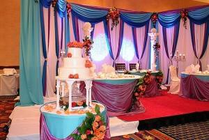 декорирование интерьера к свадьбе