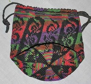 сумка из квадратных мотивов вяжем крючком.