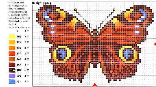 Бабочки схемы для вышивания.
