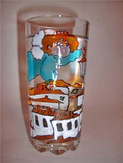 стакан роспись витражными красками