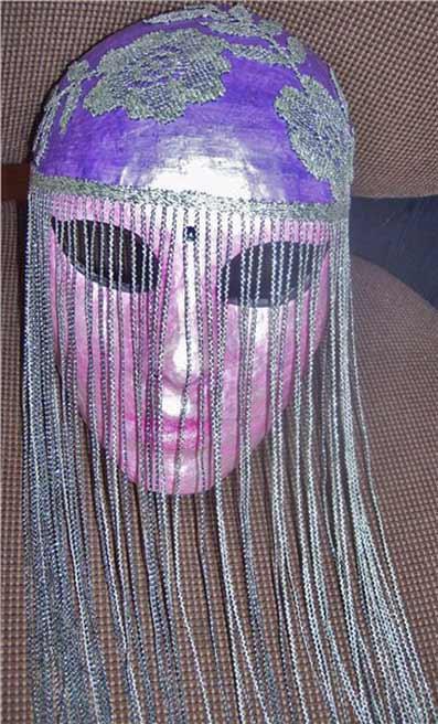 маска витражными красками