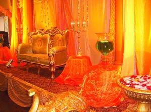 2декорирование интерьера к свадьбе