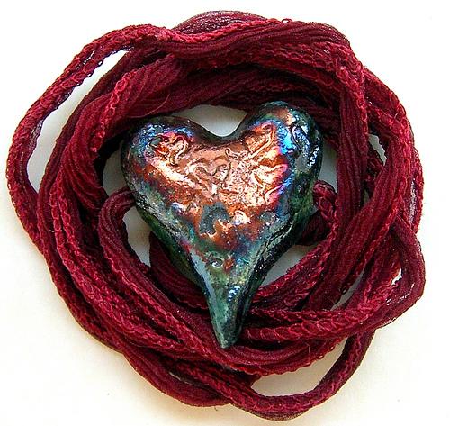 кулон сердце своими руками