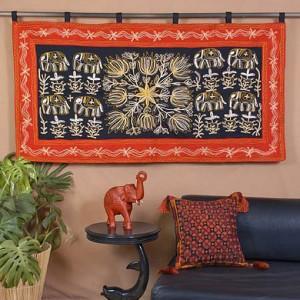индийский коврик на стену