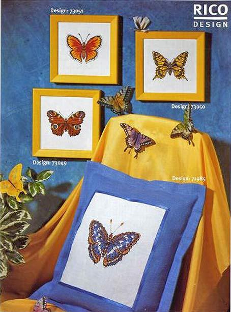 бабочки вышивание схемы