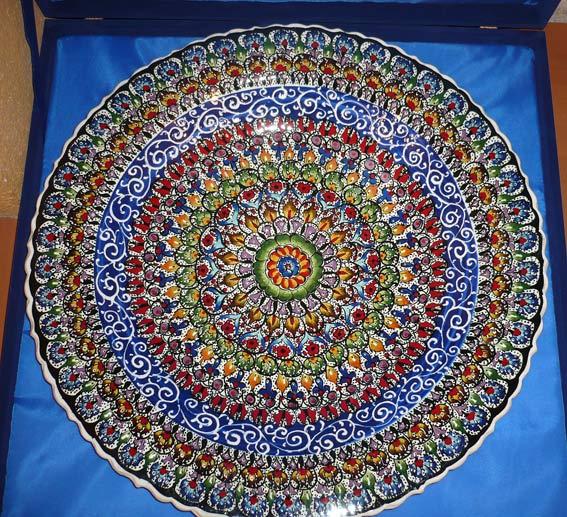 этническая керамика тарелка с росписью