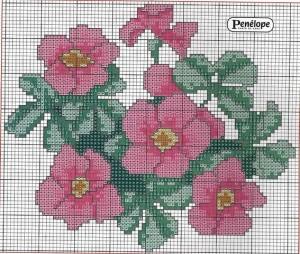 цветы схемы для вышивания