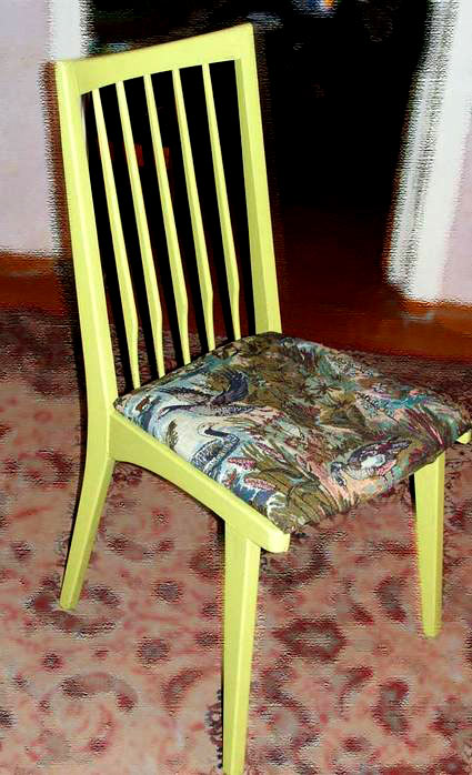 реставрация старого стула.