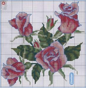 роза схемы для вышивания