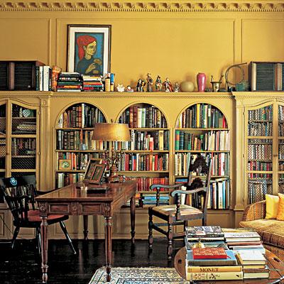 Полки с книгами чаще всего ставят в