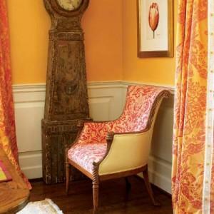 декорирование в оранжевой гамме
