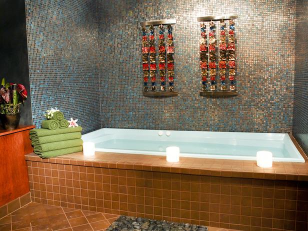 оригинальный декор ванной