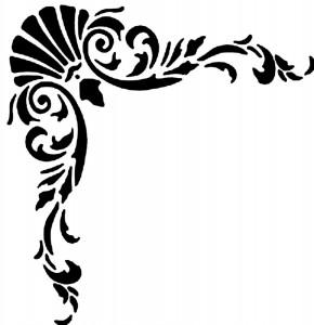 Угловой трафарет для росписи мебели и стен