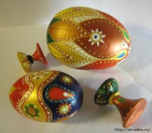яйца расписанные акрилом