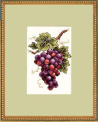 картина с виноградом