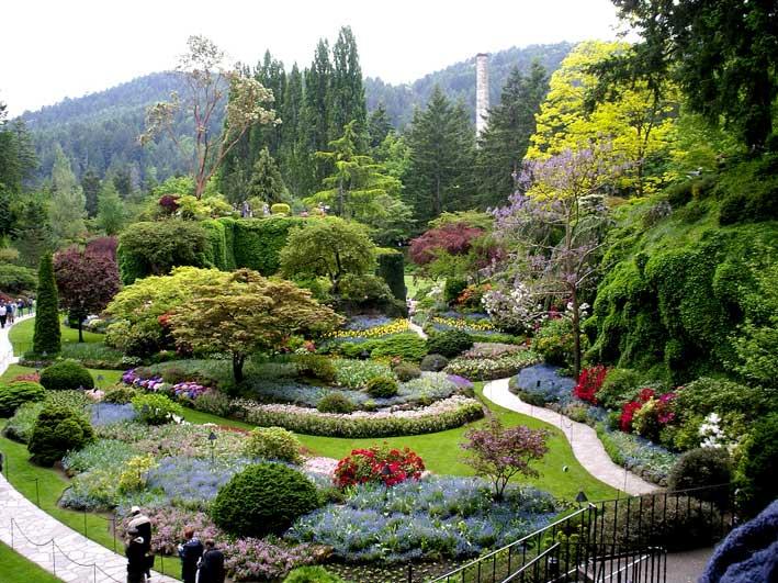 японский сад в Butchart Gardens