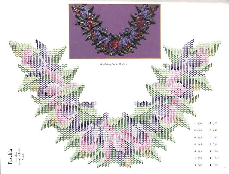 схема цветов из бисера.