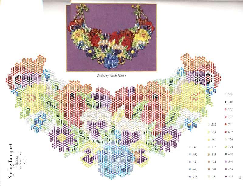 схемы цветов из бисера.