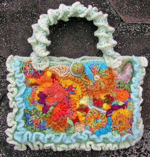 модные пляжные вязанные крючком сумочки схемы - Сумки.